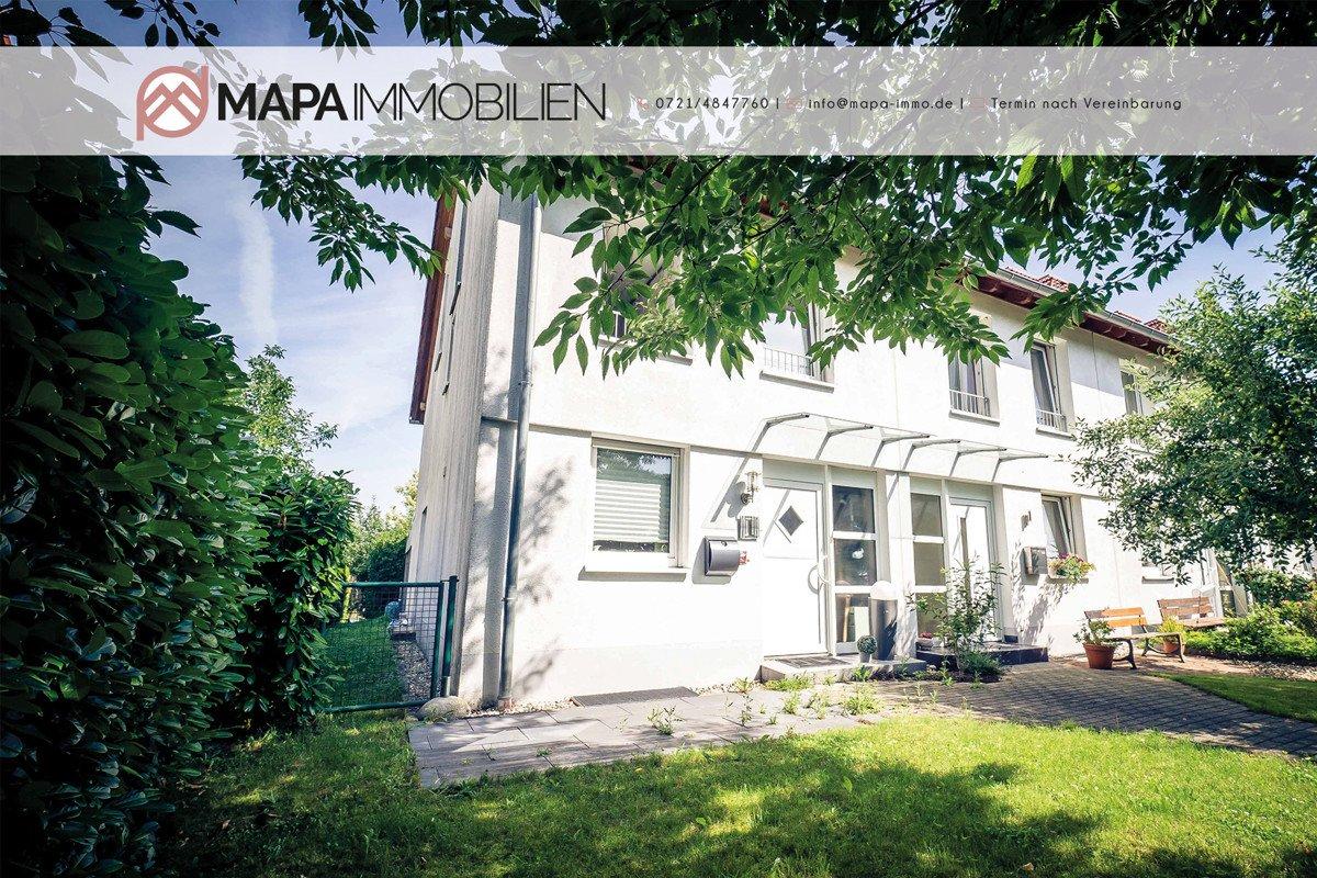 Lebensqualitätt!! Solides Reihenendhaus in ruhiger Wohnsiedlung in Grötzingen, 76229 Karlsruhe, Reihenendhaus zum Kauf